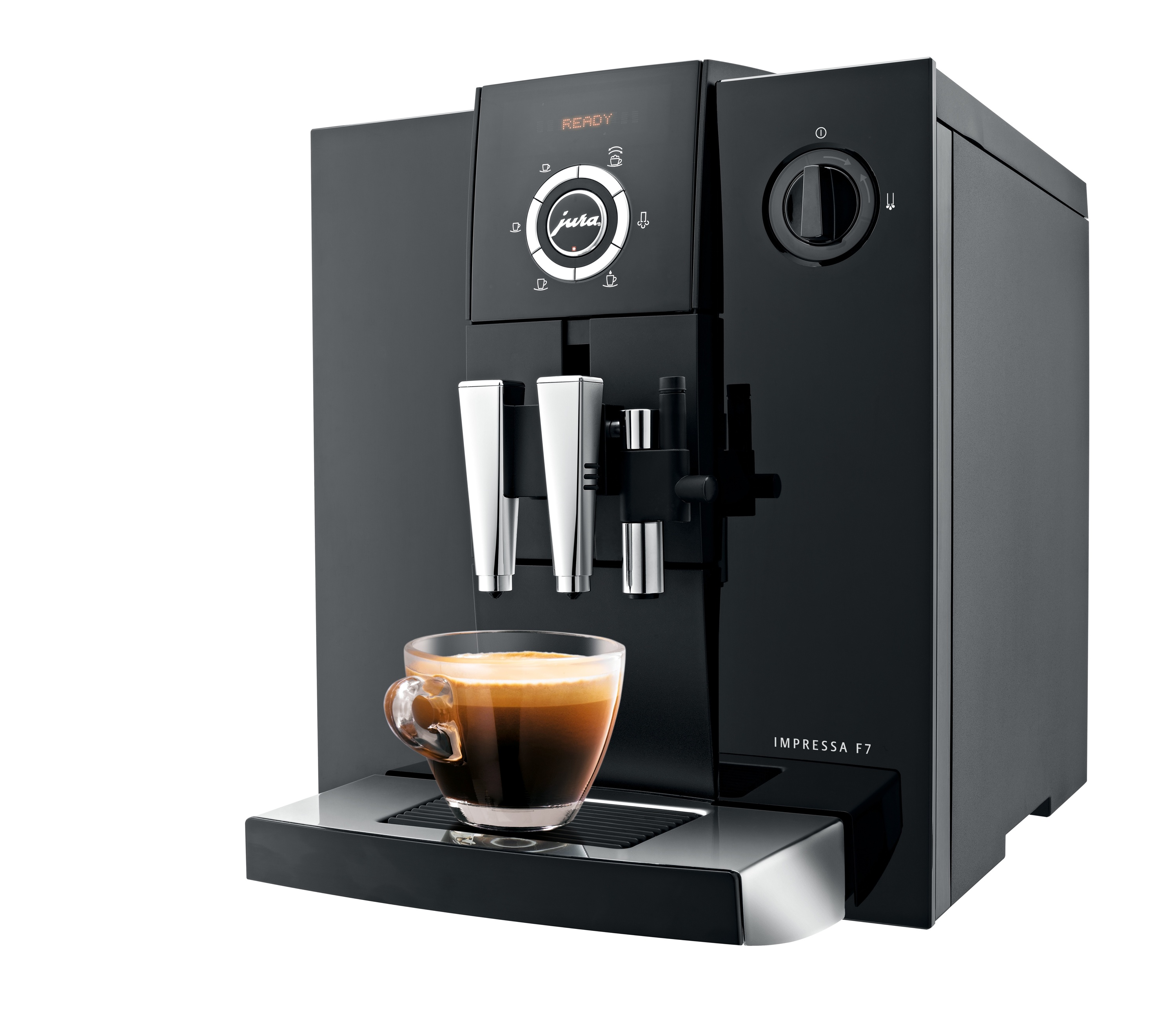 new jura impressa f7 with aroma grinder delivers espresso. Black Bedroom Furniture Sets. Home Design Ideas