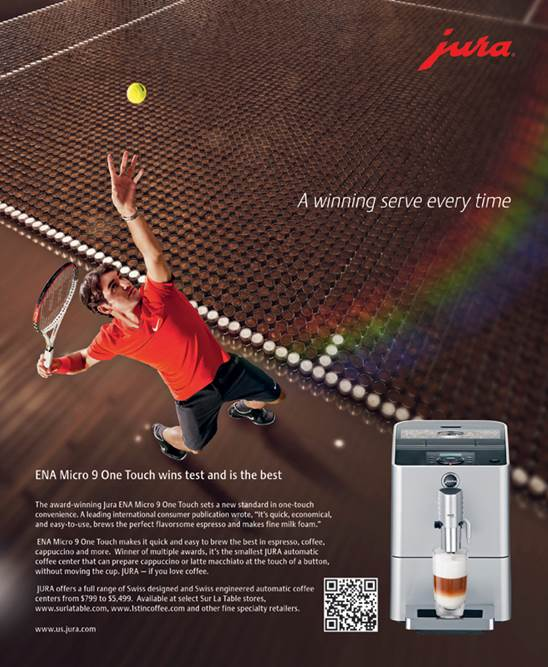 Jura Supports Elite Coffee Centers With Ad Campaign